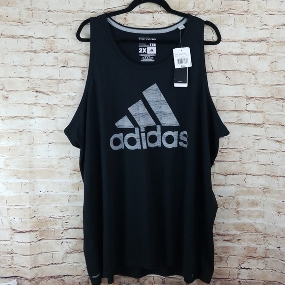 Adidas 2X black mens tank logo NWT NWT